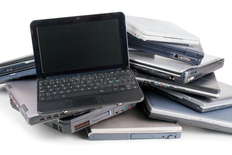 Alte Laptope stockfoto
