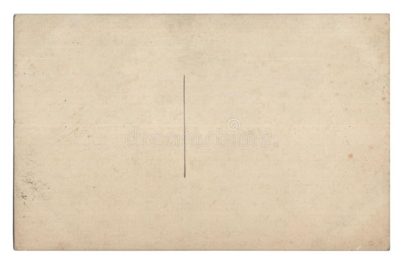Alte leere Postkarte getrennt auf Weiß lizenzfreie stockfotos