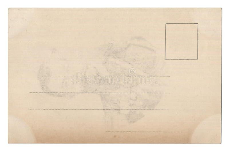 Alte leere Postkarte getrennt auf Weiß lizenzfreie stockbilder