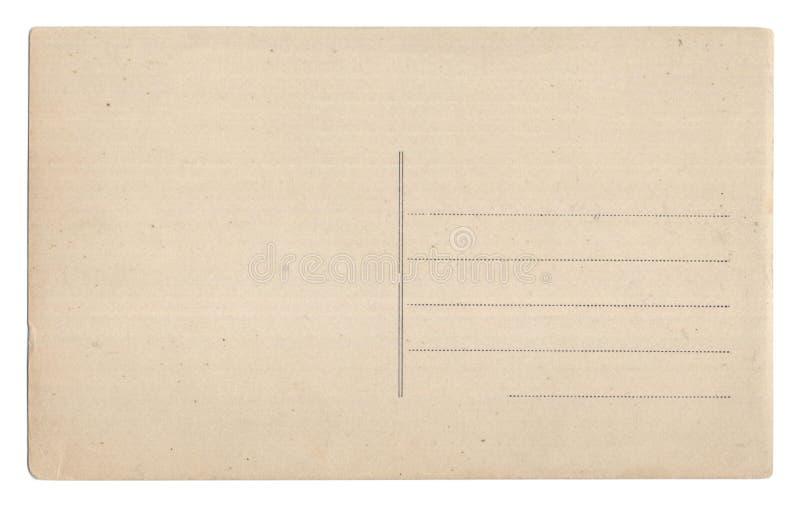 Alte leere Postkarte getrennt auf Weiß lizenzfreie stockfotografie