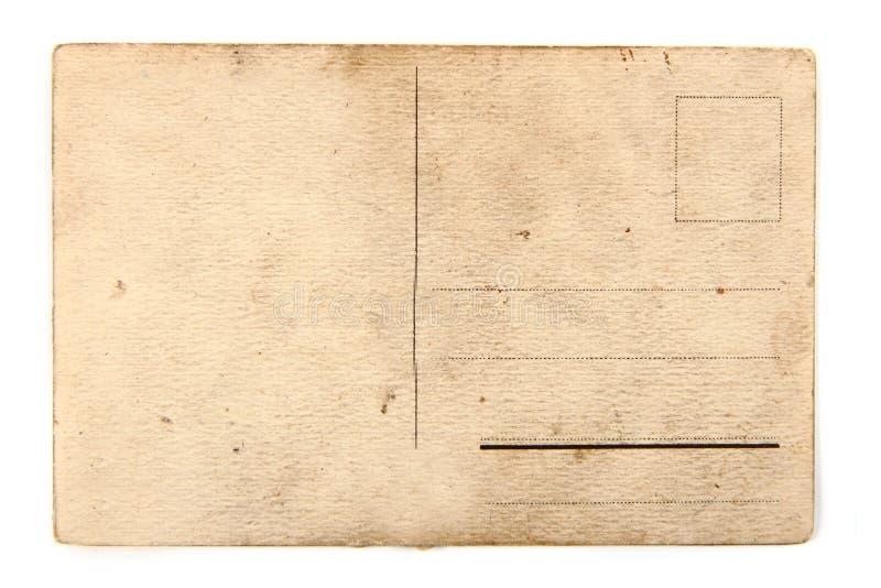 Alte leere Postkarte von der Rückseite lizenzfreies stockfoto