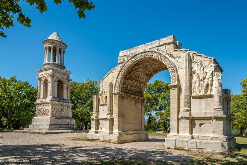 Alte Les-Antiquitäten von Heilig-Remy-De-Provence stockfoto