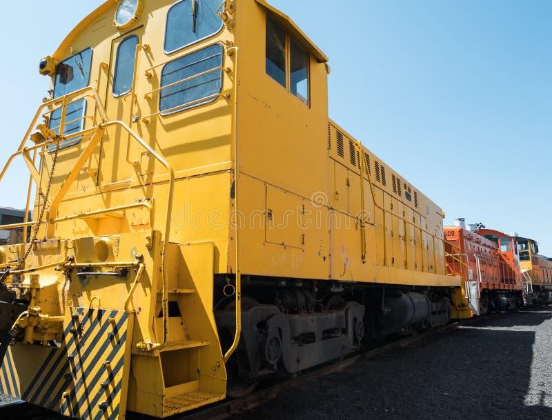 Alte Lokomotive, Portola-Eisenbahn-Museum lizenzfreies stockfoto