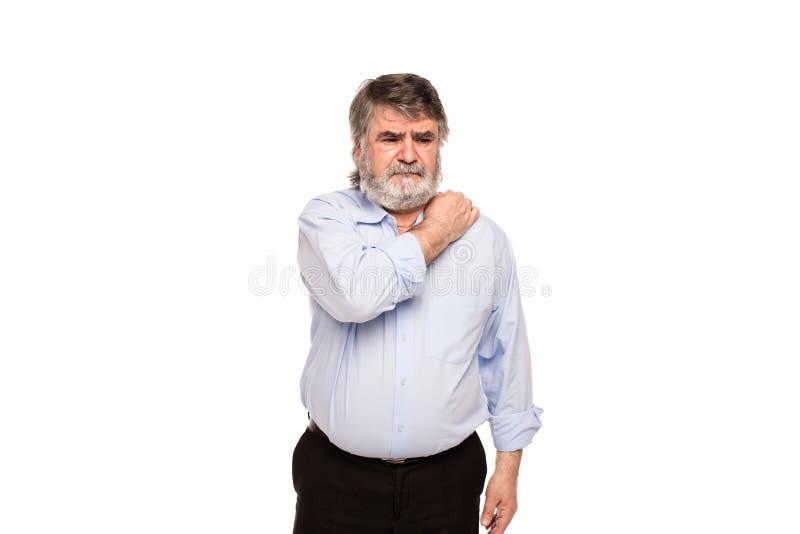 Alte Männer mit den Schmerz lizenzfreies stockbild