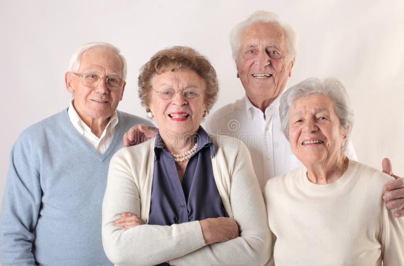 Alte Männer und Frauen lizenzfreies stockfoto