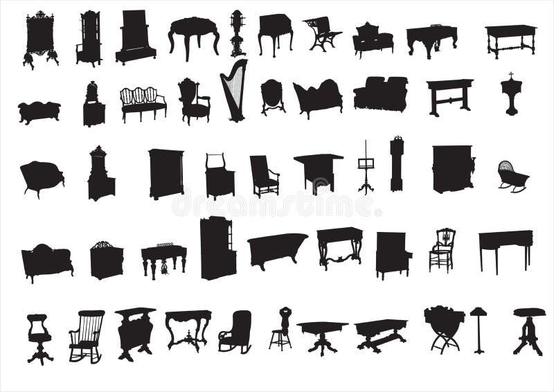 Alte Möbel stockfotos