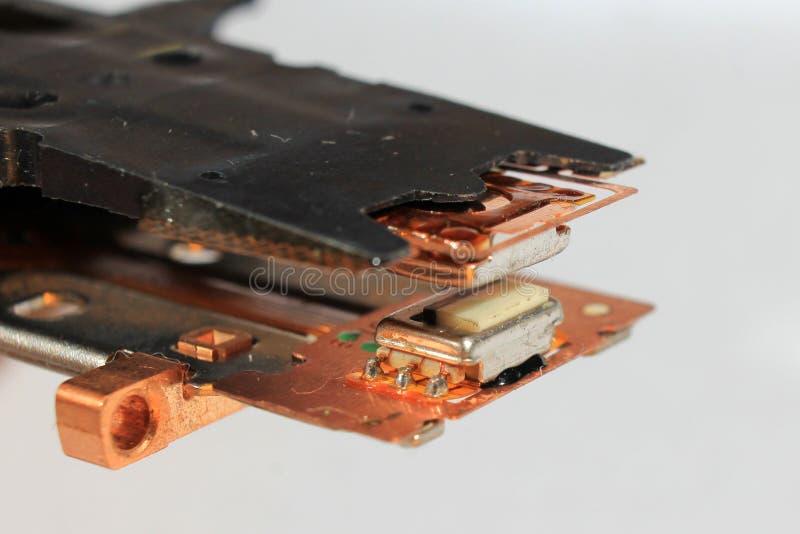 Alte Magnetköpfe von Diskettenlaufwerk lizenzfreies stockbild