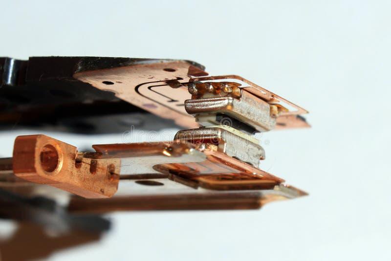 Alte Magnetköpfe von Diskettenlaufwerk stockbilder