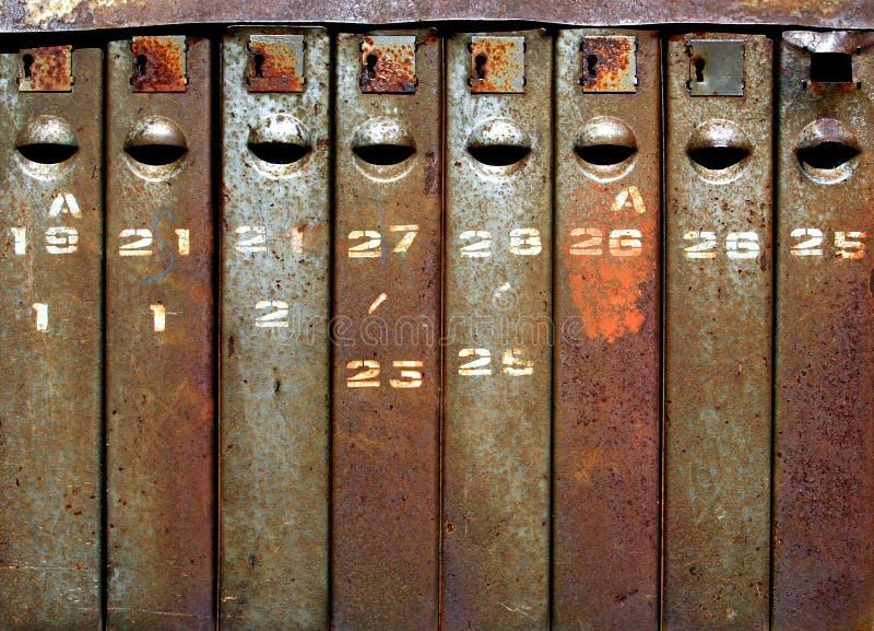 Alte Mailboxes lizenzfreies stockbild
