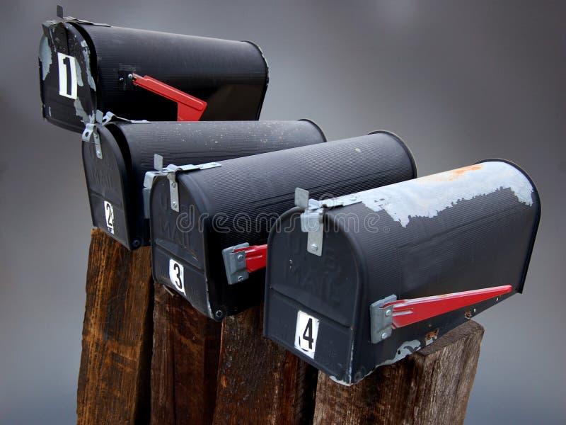 Alte Mailboxes lizenzfreies stockfoto