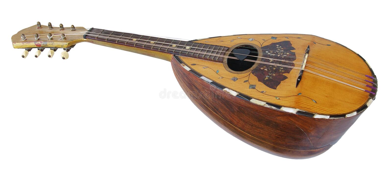 Alte Mandoline stockfotos