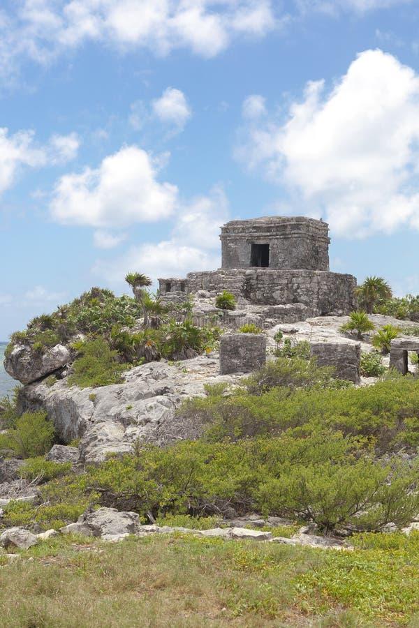 Alte Mayaruinen in Tulum, Mexiko lizenzfreies stockfoto
