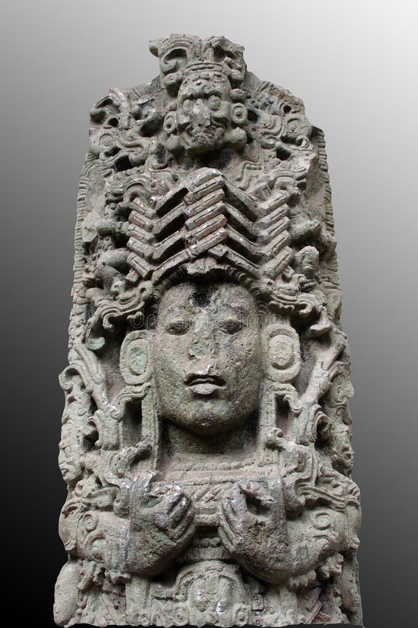 Alte Mayaskulptur lizenzfreie stockbilder