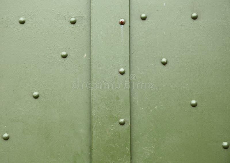 Alte Metallgrün-Hintergrundbeschaffenheit stockbilder