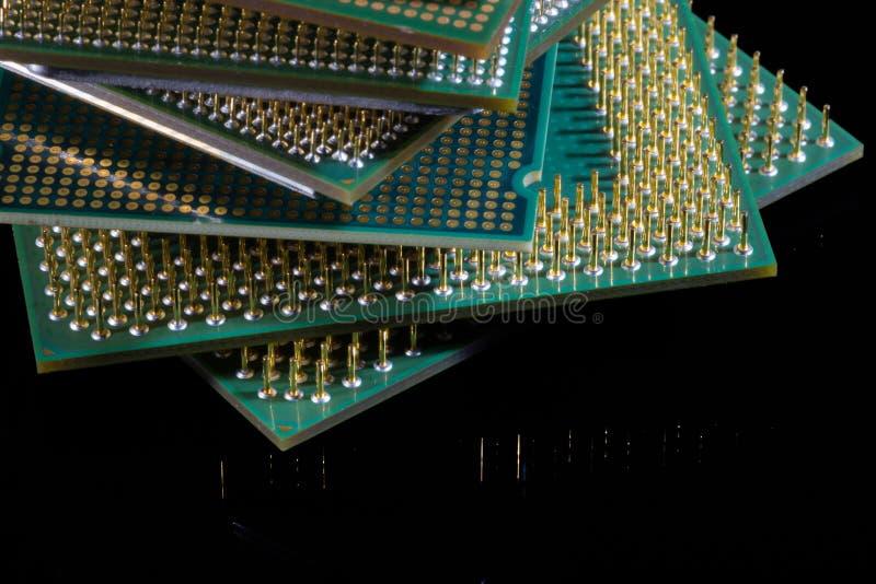 Alte Mikroprozessoren lizenzfreie stockfotografie