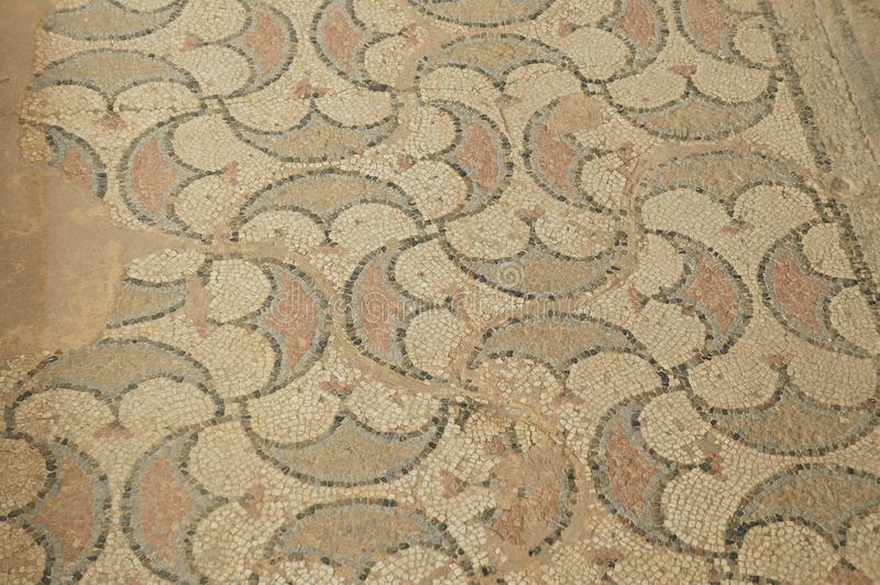 Alte Mosaiken in archäologischer Fundstätte Stobi stockbilder
