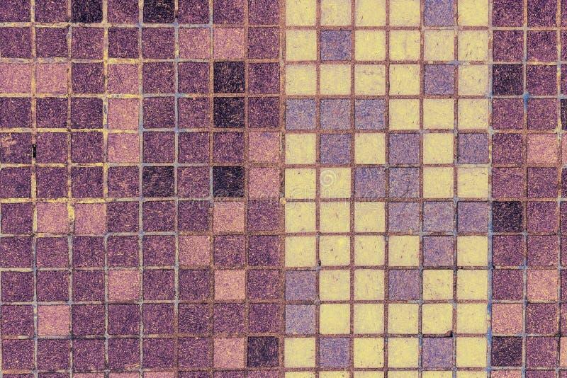 Alte Mosaikfliesen Von Den Verschiedenen Farben Verticaly Gezeichnet - Alte mosaik fliesen