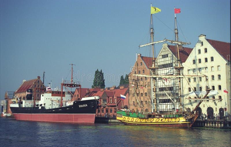 Alte Museumsschiffe in Gdansk, Polen lizenzfreies stockfoto