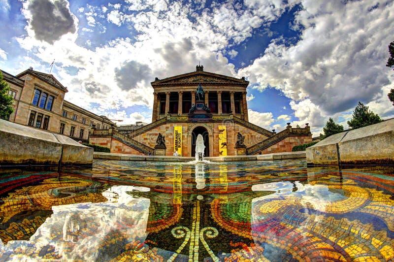 Alte Nationalgalerie - Берлин/Германия стоковое изображение rf