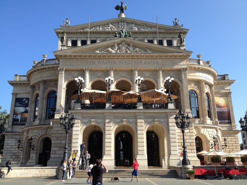 Alte Oper στη Φρανκφούρτη στοκ εικόνες