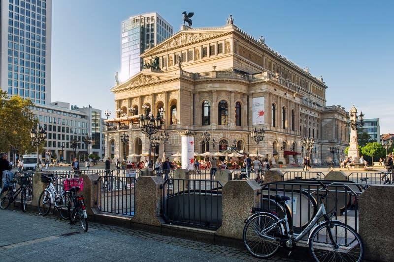 Alte Oper royalty-vrije stock afbeelding