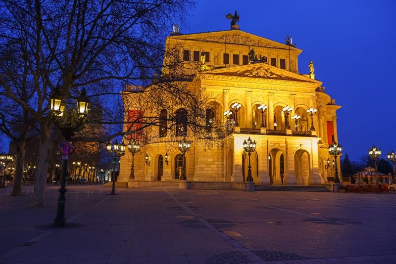Alte Oper in Frankfurt royalty-vrije stock foto