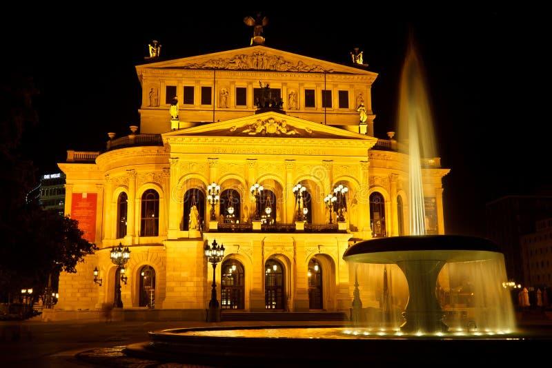 Alte Oper in Frankfurt, Duitsland royalty-vrije stock afbeeldingen
