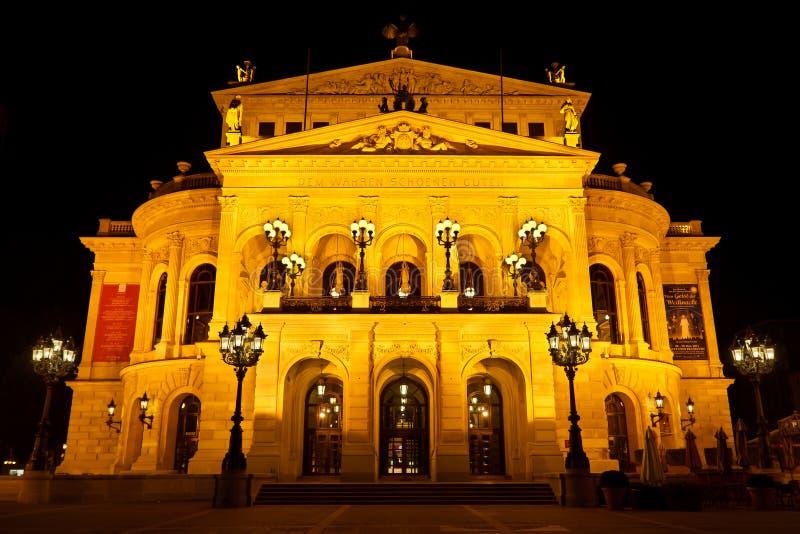 Alte Oper in Frankfurt, Duitsland royalty-vrije stock foto's