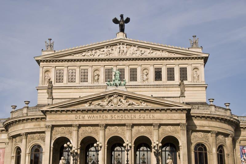 Alte Oper in Frankfurt, Duitsland royalty-vrije stock fotografie