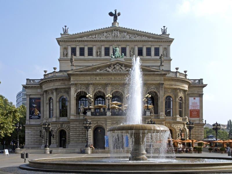 Alte Oper, Operahuis in Frankfurt-am-Main royalty-vrije stock afbeeldingen