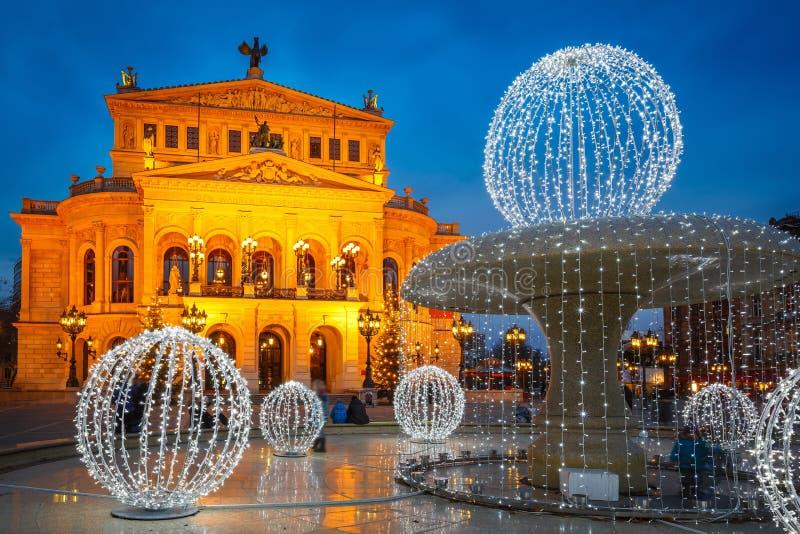 Alte Oper w Frankfurt obraz royalty free