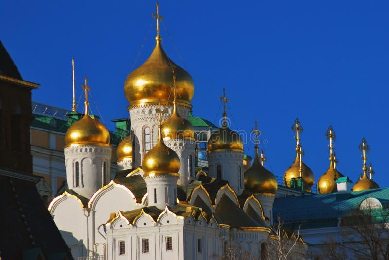 Alte orthodoxe Ankündigungskirche Moskau Kremlin lizenzfreie stockfotografie