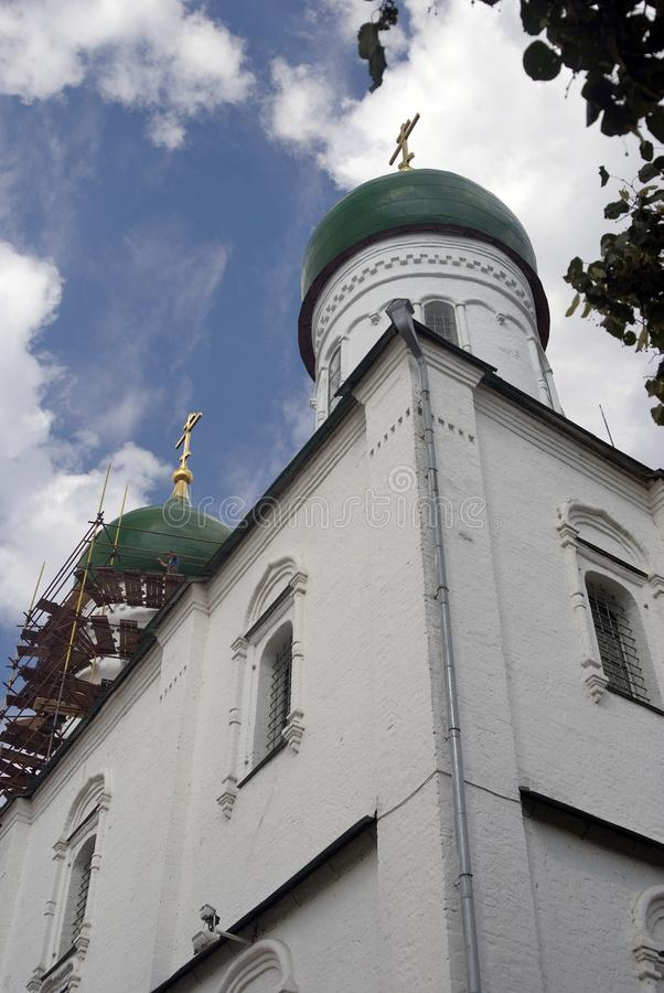 Alte orthodoxe Dormitions-Kirche Kremlin in Kolomna, Russland stockfotos
