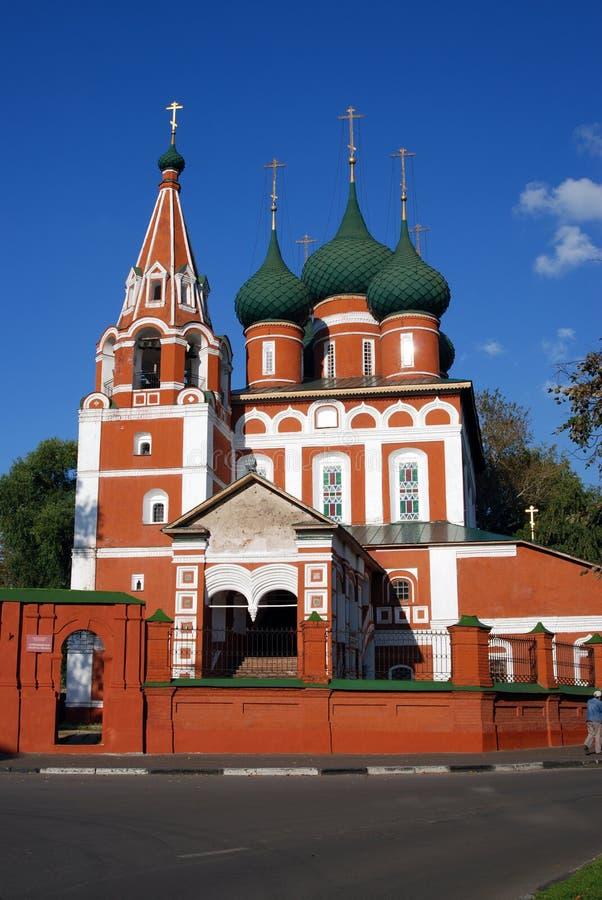 Alte orthodoxe Kirche im historischen Stadtzentrum von Yaroslavl, Russland lizenzfreie stockbilder