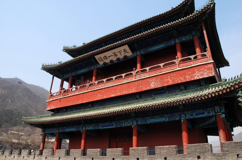 Alte Pagode auf Chinesischer Mauer (China) stockbilder