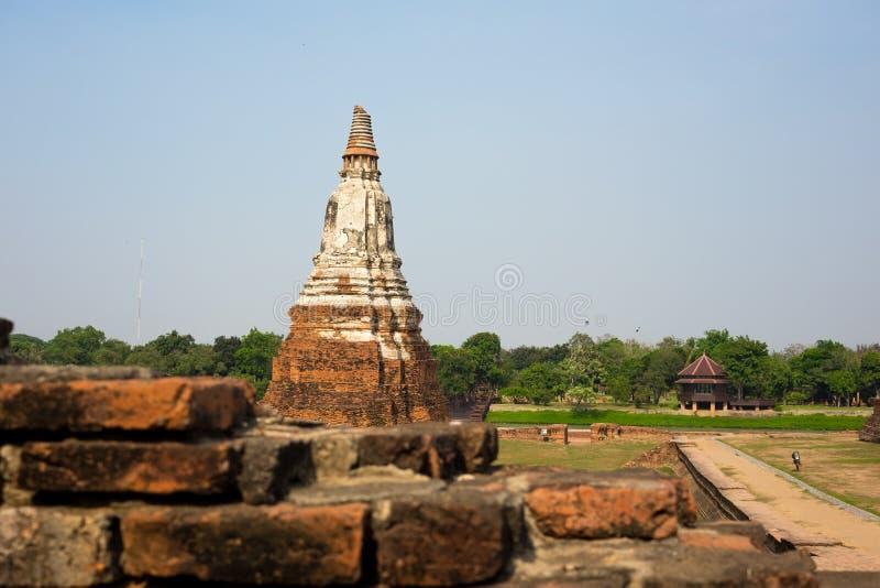 Alte Pagode in Ayutthaya lizenzfreie stockfotografie