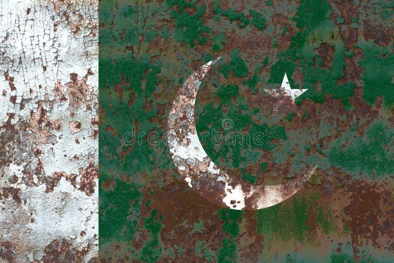 Alte Pakistan-Schmutzhintergrundflagge stockfotografie