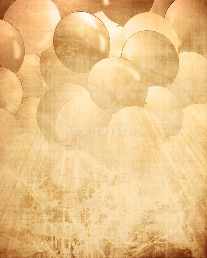 Alte Papierbeschaffenheit mit integrierten Ballonen stock abbildung
