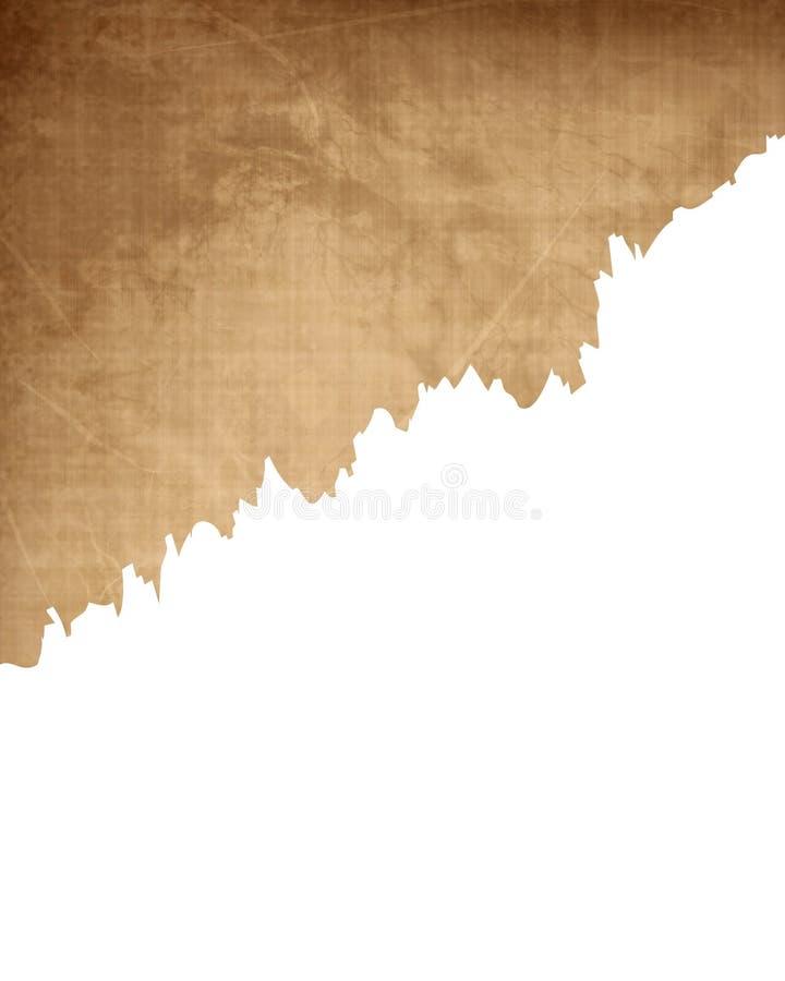Alte Papierbeschaffenheit mit Riss vektor abbildung