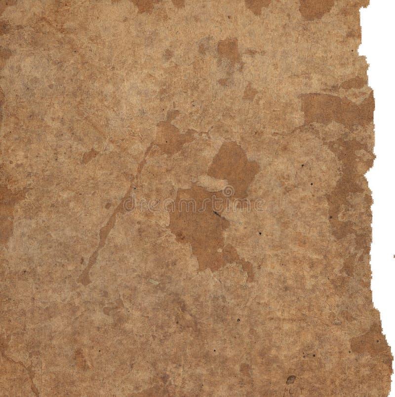 Alte Papierbeschaffenheiten getrennt auf Weiß lizenzfreies stockbild