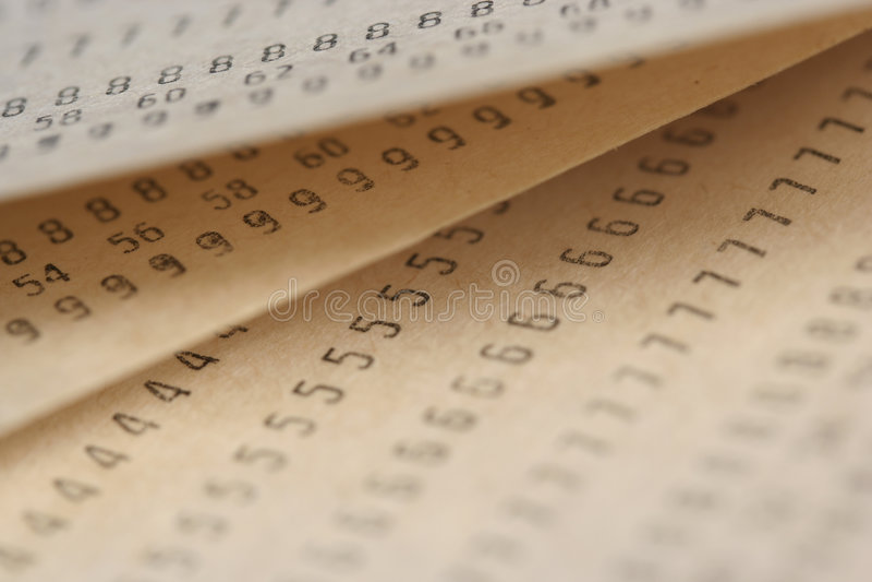 Alte Papiere mit Zahlen lizenzfreie stockfotos