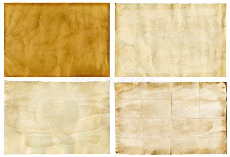 Alte Papierhintergründe stockbild