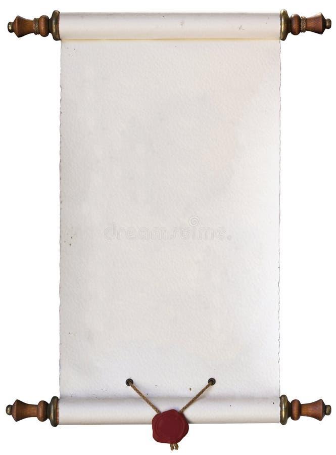 Alte Papierrolle stockbilder