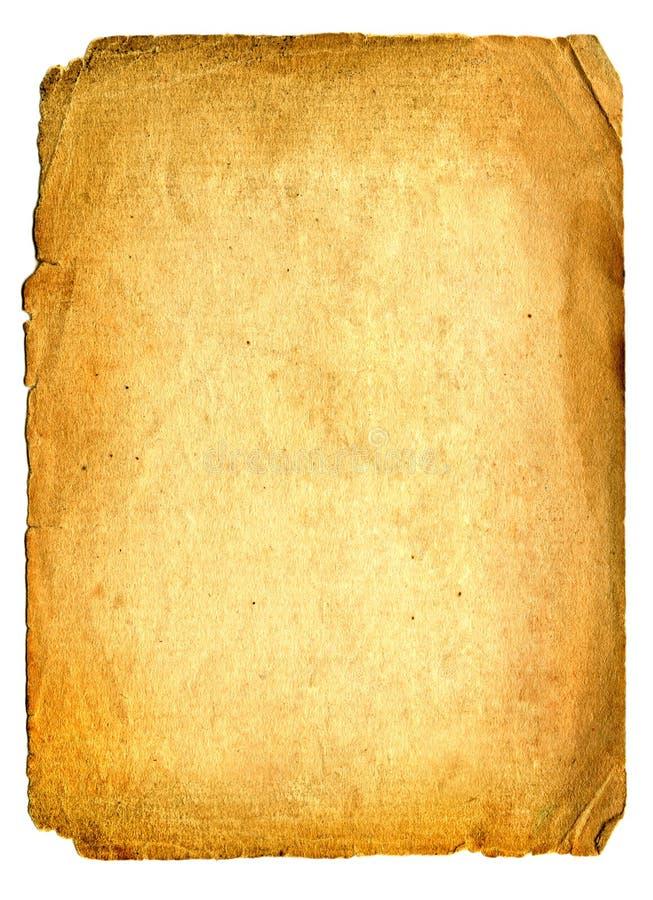 Alte Papierseite stockbild