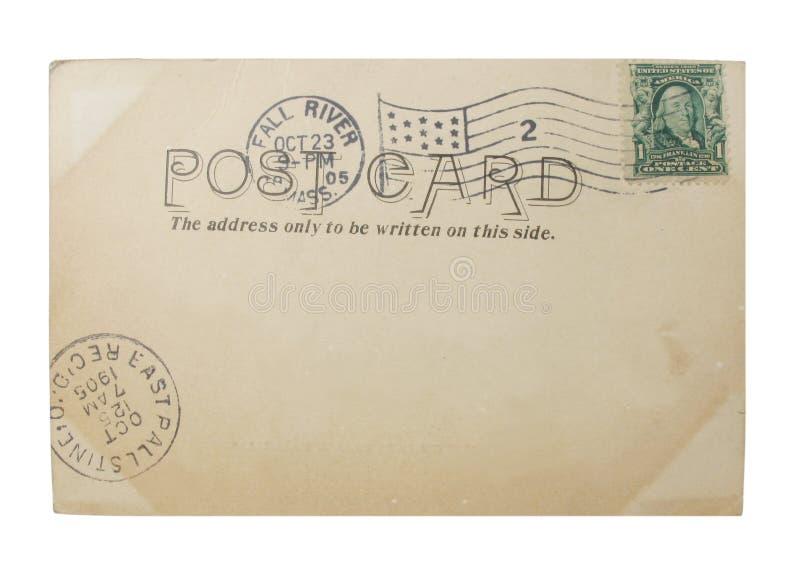 Alte Penny-Postkarte lizenzfreies stockbild