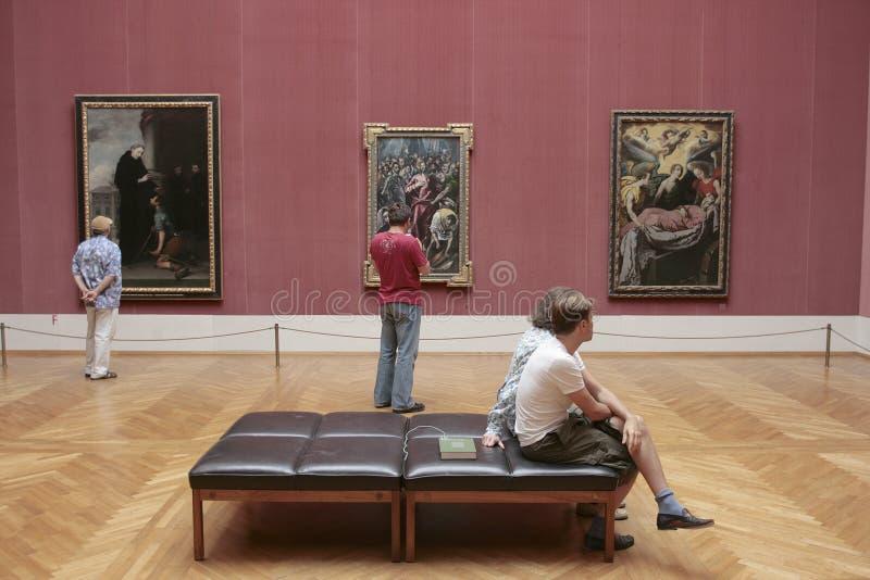 Alte Pinakothek Museum München stockfotos