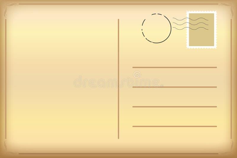 Alte Postkarte lizenzfreie abbildung