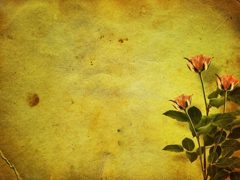Alte Postkarte mit Blumenstrauß lizenzfreie abbildung