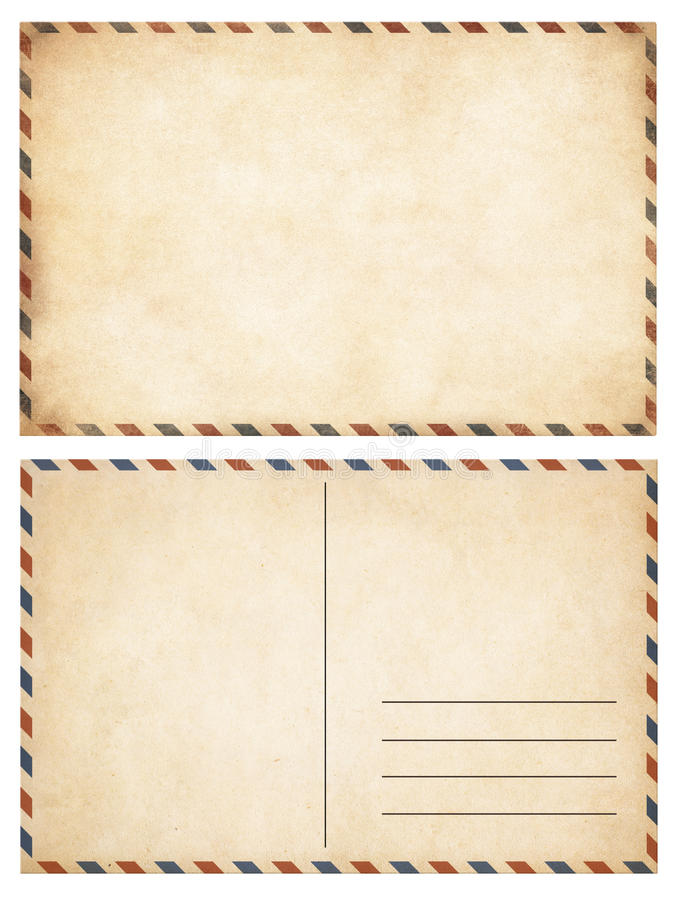Alte Postkarten eingestellt stockfotos