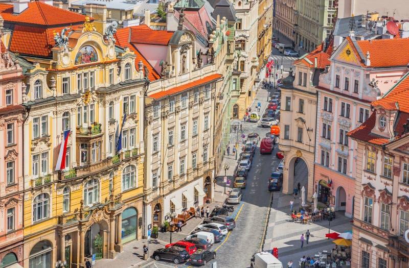 Alte Prag-Straße stockfoto